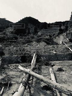 山崩れ、自然災害の脅威の写真・画像素材[2886243]
