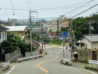 兵庫県芦屋市・ライト坂の写真・画像素材[2887599]