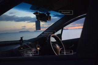 車の側面鏡の写真・画像素材[2884973]