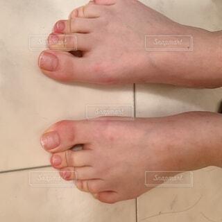 踏ん張る足の写真・画像素材[4874652]