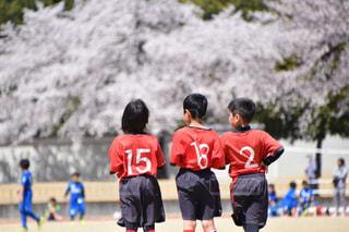 サッカー少年応援団の写真・画像素材[2894435]