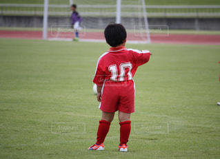 ハイウエスト ちびっ子サッカー選手の写真・画像素材[2932198]