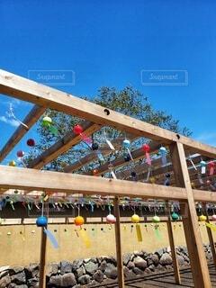 フェンスのクローズアップの写真・画像素材[4403244]