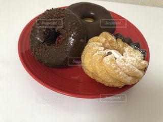 チョコレートドーナツの写真・画像素材[3597173]