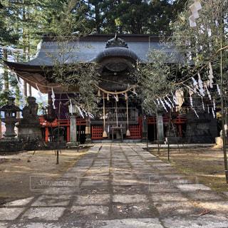 宮城蔵王を望む神社の写真・画像素材[2904124]