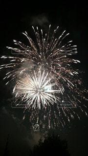 空の花火の写真・画像素材[2962697]