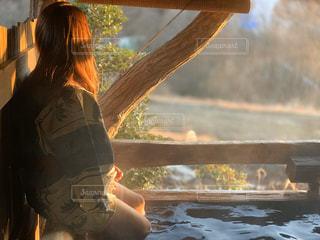 露天風呂の写真・画像素材[2916245]