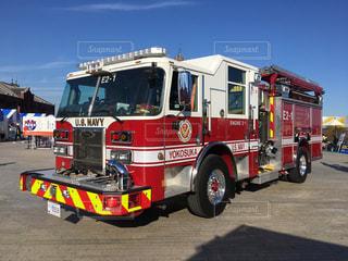 アメリカの消防車の写真・画像素材[1418902]
