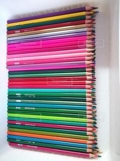 娘の色鉛筆の写真・画像素材[3107852]
