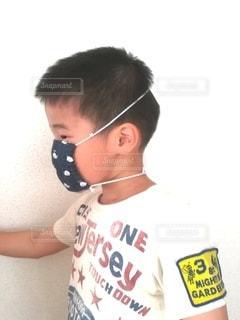 耳が痛くならないマスクの写真・画像素材[3256492]
