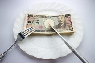 お金のメインディッシュの写真・画像素材[3723130]