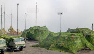 自衛隊の野営キャンプの写真・画像素材[3727651]