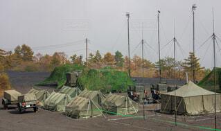 自衛隊の野営キャンプの写真・画像素材[3727653]