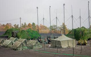 自衛隊の野営キャンプの写真・画像素材[3727654]
