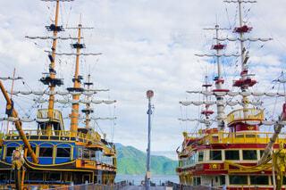 芦ノ湖の観光海賊船の写真・画像素材[3788470]