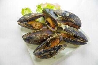 ムール貝のワイン蒸しの写真・画像素材[3880502]
