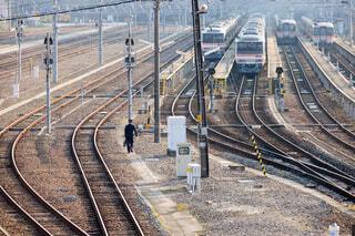 出勤する鉄道員の写真・画像素材[3920211]