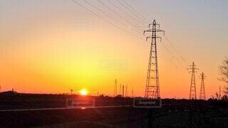 綺麗な夕陽🌇の写真・画像素材[4328417]