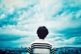 どんより曇り空の写真・画像素材[3425378]