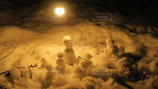 小さな雪だるまの写真・画像素材[1011571]