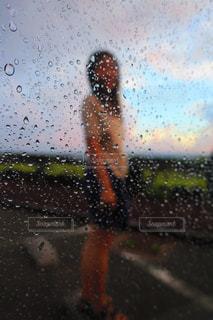 突然の雨の写真・画像素材[1418760]