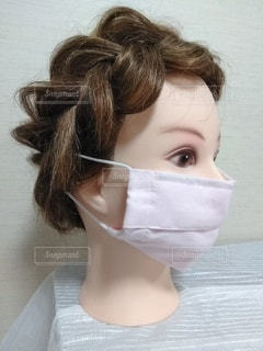 ピンク色のマスク1の写真・画像素材[3303242]