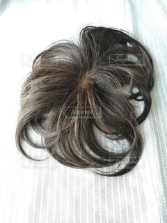部分つけ毛の写真・画像素材[3521385]