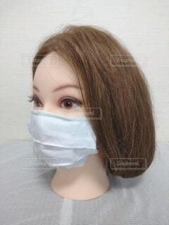 キレイなお姉さんのマスク、ボブの写真・画像素材[3689971]