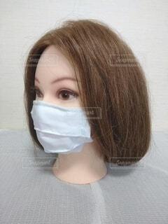 美人のマスク、ボブ、左ななめの写真・画像素材[3689969]