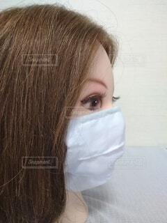 美人の横顔、マスクの写真・画像素材[3689973]