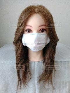 美人のマスク、正面の写真・画像素材[3690588]