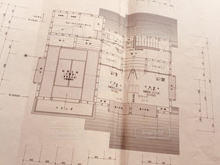 住宅の図面のクローズアップの写真・画像素材[2994764]