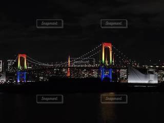 東京タワーとレインボーブリッジの写真・画像素材[2941742]