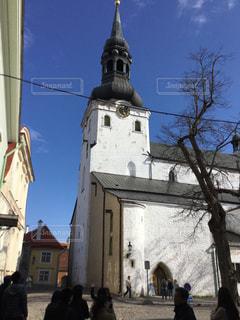 城塞都市の中の教会の写真・画像素材[2939504]