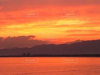 オレンジの海の写真・画像素材[2963545]
