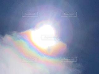 希望の光♡レインボー空の写真・画像素材[3198004]