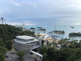 セントーサ島からの一望できるシンガポール海峡の写真・画像素材[2966450]