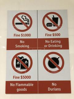シンガポールの法律標識です。の写真・画像素材[2987626]