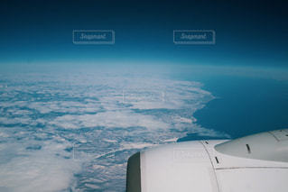 飛行機の上からの写真・画像素材[3062980]