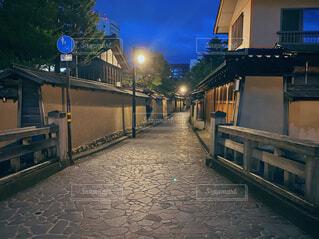 金沢 夜景 武家屋敷の写真・画像素材[3888548]