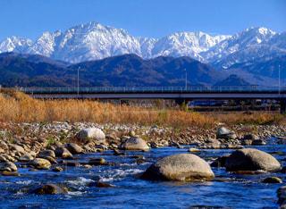 冬の立山連峰の写真・画像素材[2971155]