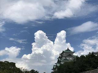 雲と城の写真・画像素材[2998405]
