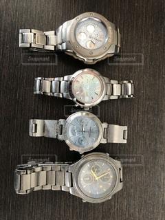 4本の腕時計の写真・画像素材[3023729]