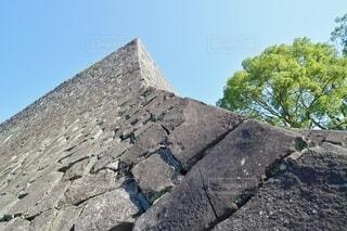 熊本城 二様の石垣の反りの写真・画像素材[4102406]
