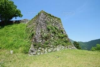 津和野城 人質曲輪の石垣の写真・画像素材[4163276]