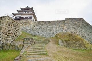 丸亀城 天守と石垣の写真・画像素材[4440839]
