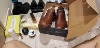 靴磨きの写真・画像素材[2986953]