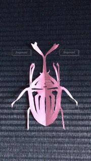 カブトムシの切り絵の写真・画像素材[2985136]