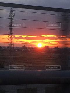 夕日のクローズアップの写真・画像素材[2989201]