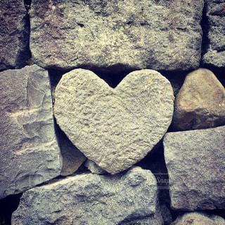 ハート石の写真・画像素材[2992578]